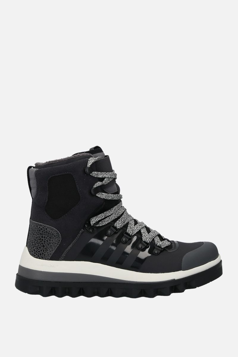 ADIDAS BY STELLA McCARTNEY: Eulampis ankle boots in a mix of materials Color Black_1
