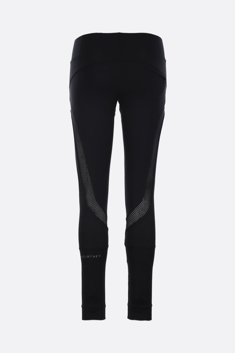 ADIDAS BY STELLA McCARTNEY: Essentials tights in sweat-wicking fabric Color Black_2