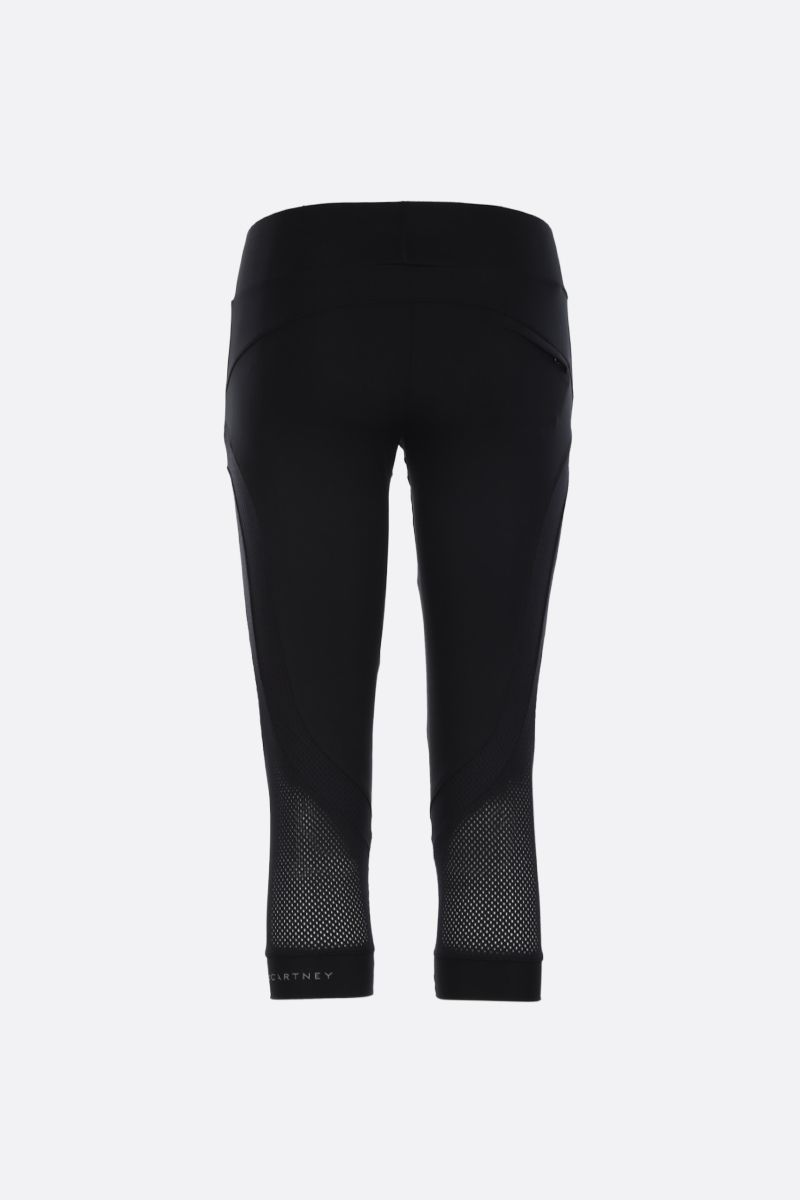 ADIDAS BY STELLA McCARTNEY: Essentials three-quarter tights in technical fabric Color Black_2