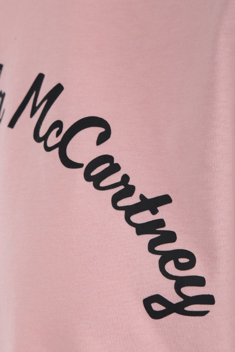 ADIDAS BY STELLA McCARTNEY: logo print cotton blend t--shirt Color Pink_3