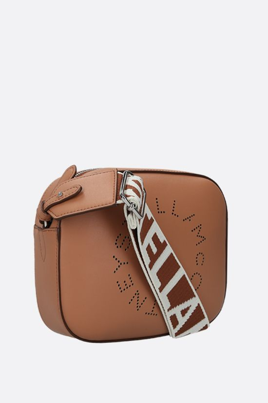 STELLA McCARTNEY: Stella Logo mini camera bag in Alter Nappa Color Brown_2