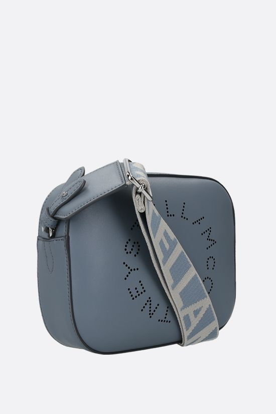 STELLA McCARTNEY: Stella Logo mini camera bag in Alter Nappa Color Blue_2