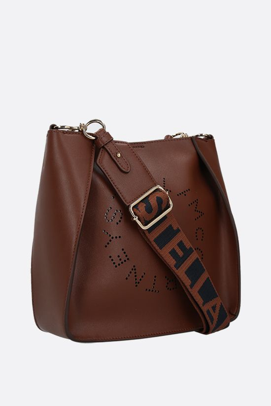 STELLA McCARTNEY: Stella Logo shoulder bag in Alter Nappa Color Brown_2