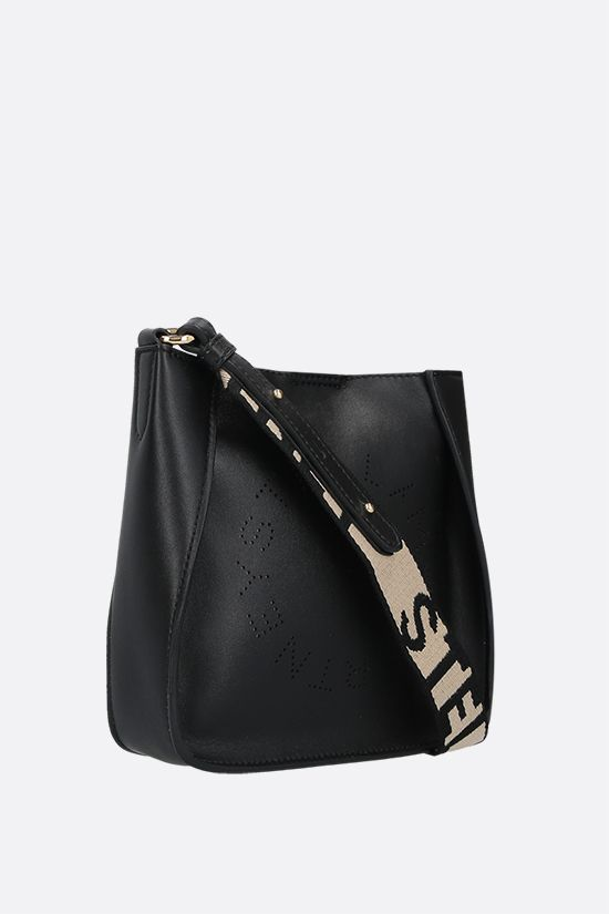 STELLA McCARTNEY: borsa a spalla Stella Logo mini in Alter Nappa Colore Nero_2