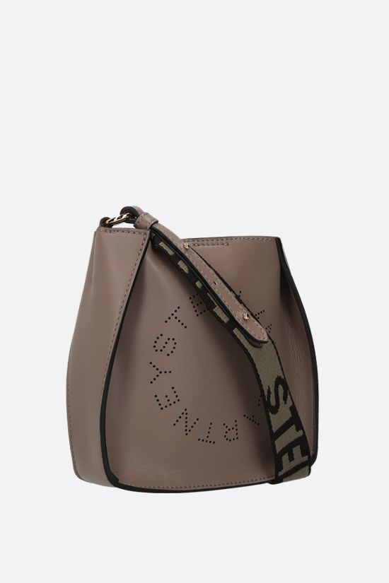 STELLA McCARTNEY: Stella Logo mini shoulder bag in Alter Nappa Color Neutral_2