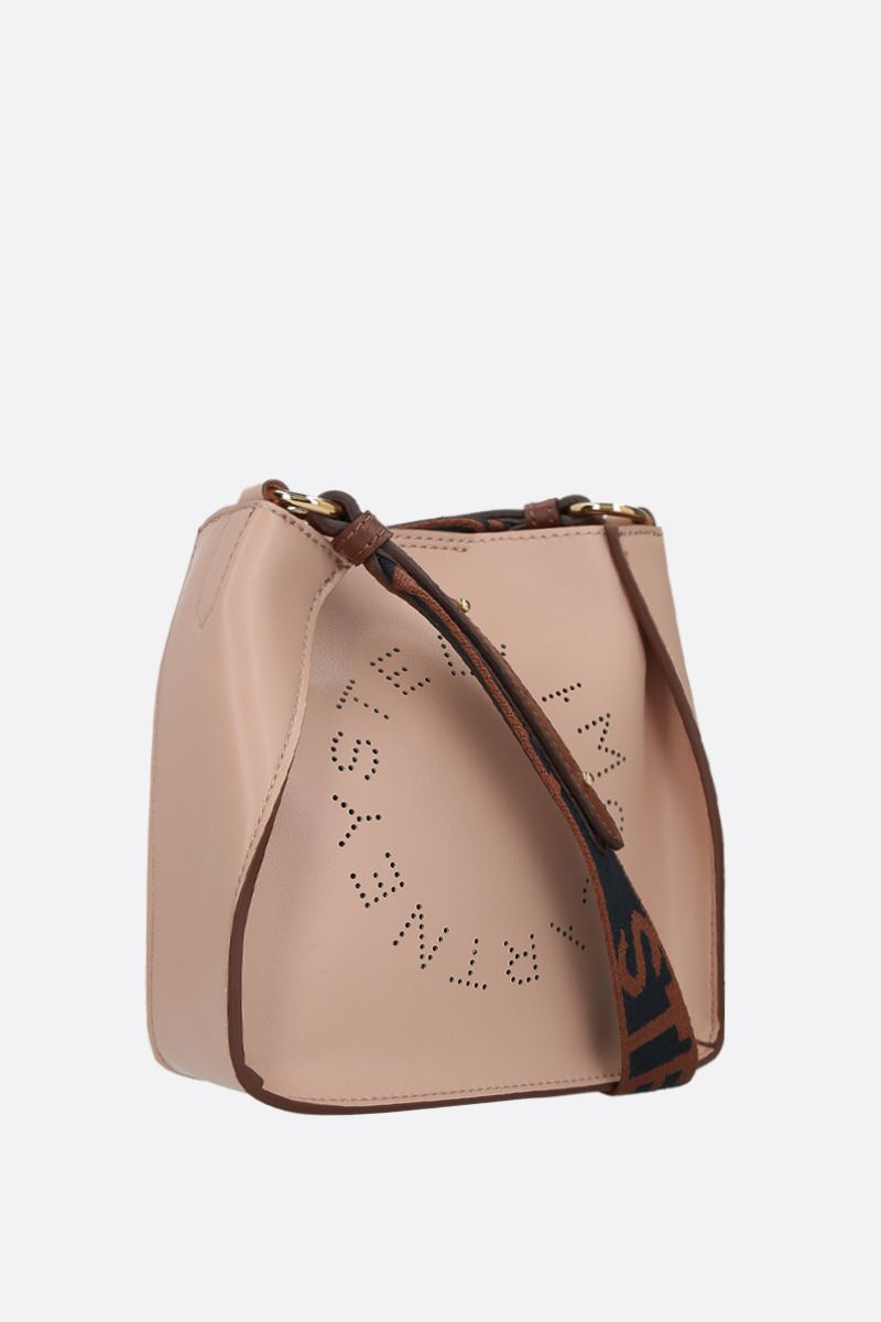 STELLA McCARTNEY: borsa a spalla Stella Logo mini in Alter Nappa Colore Rosa_2