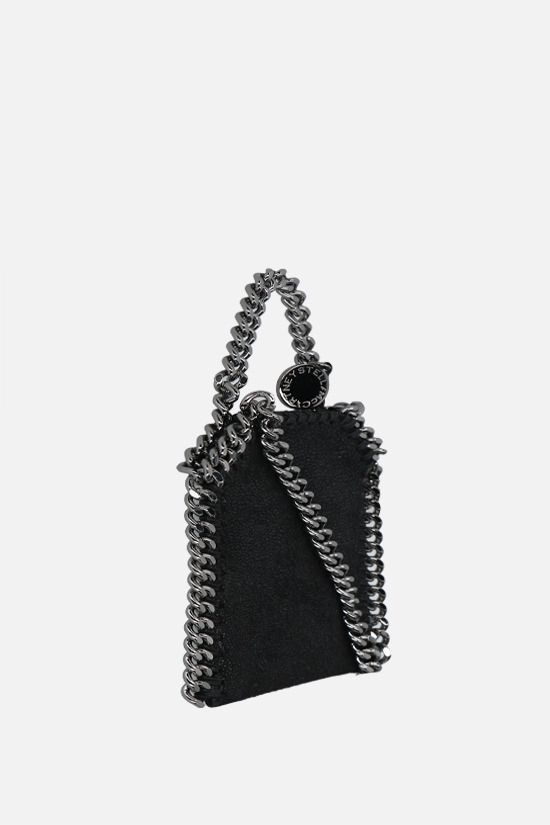 STELLA McCARTNEY: Falabella micro crossbody bag in Shaggy Deer Color Black_2