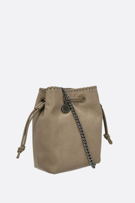 STELLA McCARTNEY: Falabella micro bucket bag in Shaggy Deer Color Brown_2