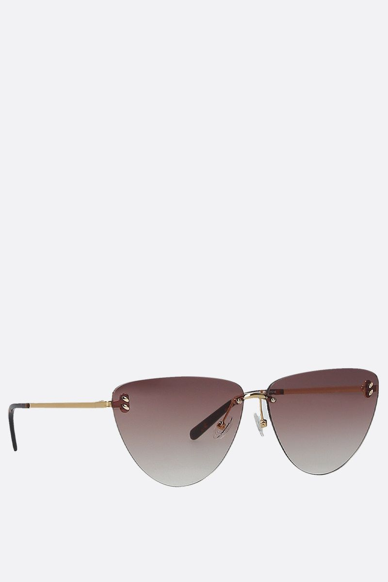STELLA McCARTNEY: metal cat-eye sunglasses Color Gold_2