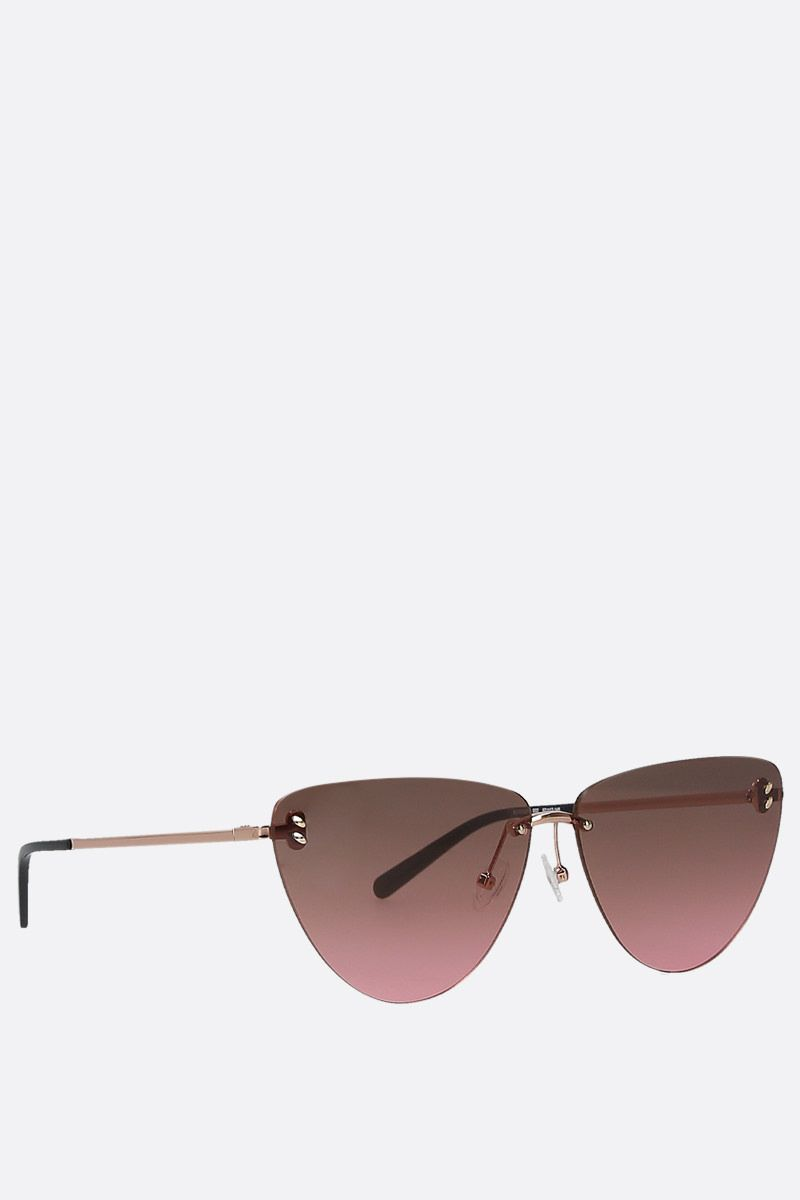 STELLA McCARTNEY: metal cat-eye sunglasses Color Pink_2