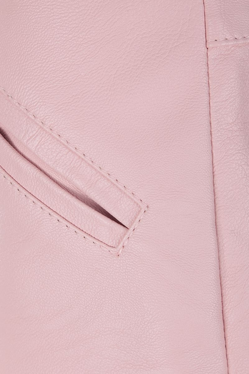 STELLA McCARTNEY: Alter Nappa high-waisted shorts Color Pink_3