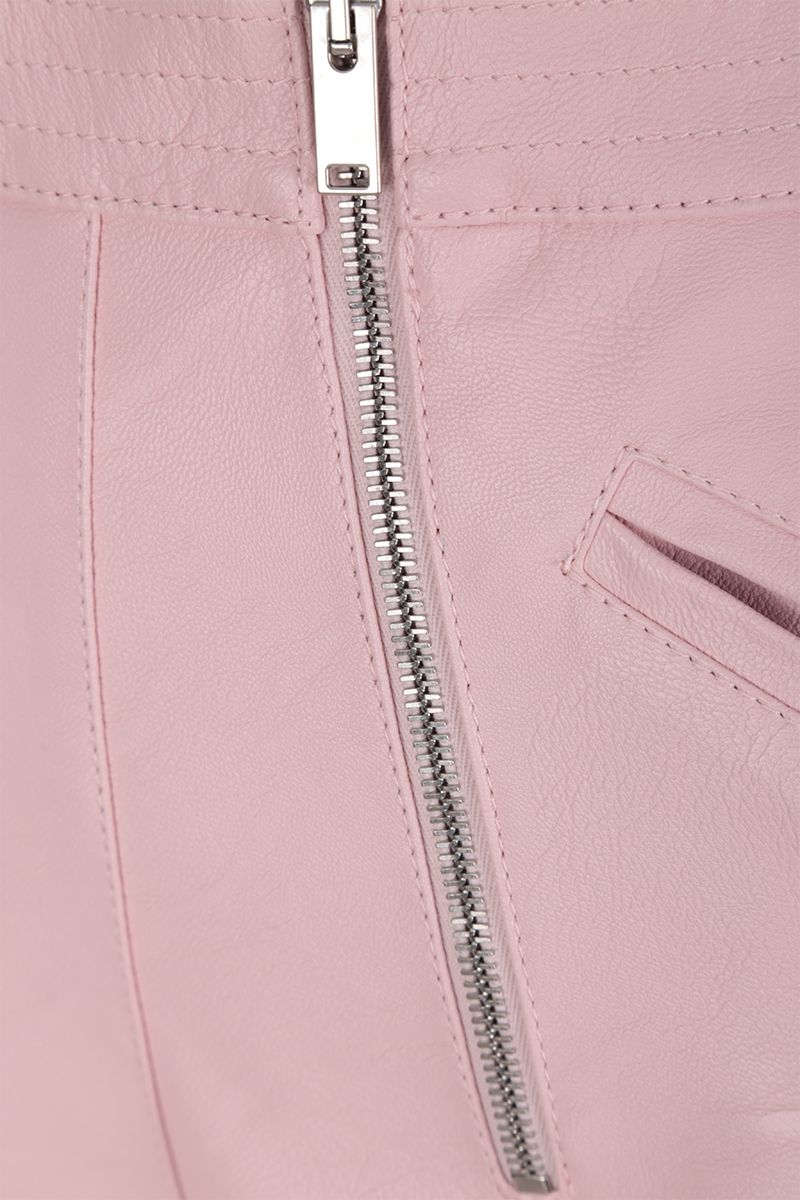 STELLA McCARTNEY: Alter Nappa high-waisted shorts Color Pink_4
