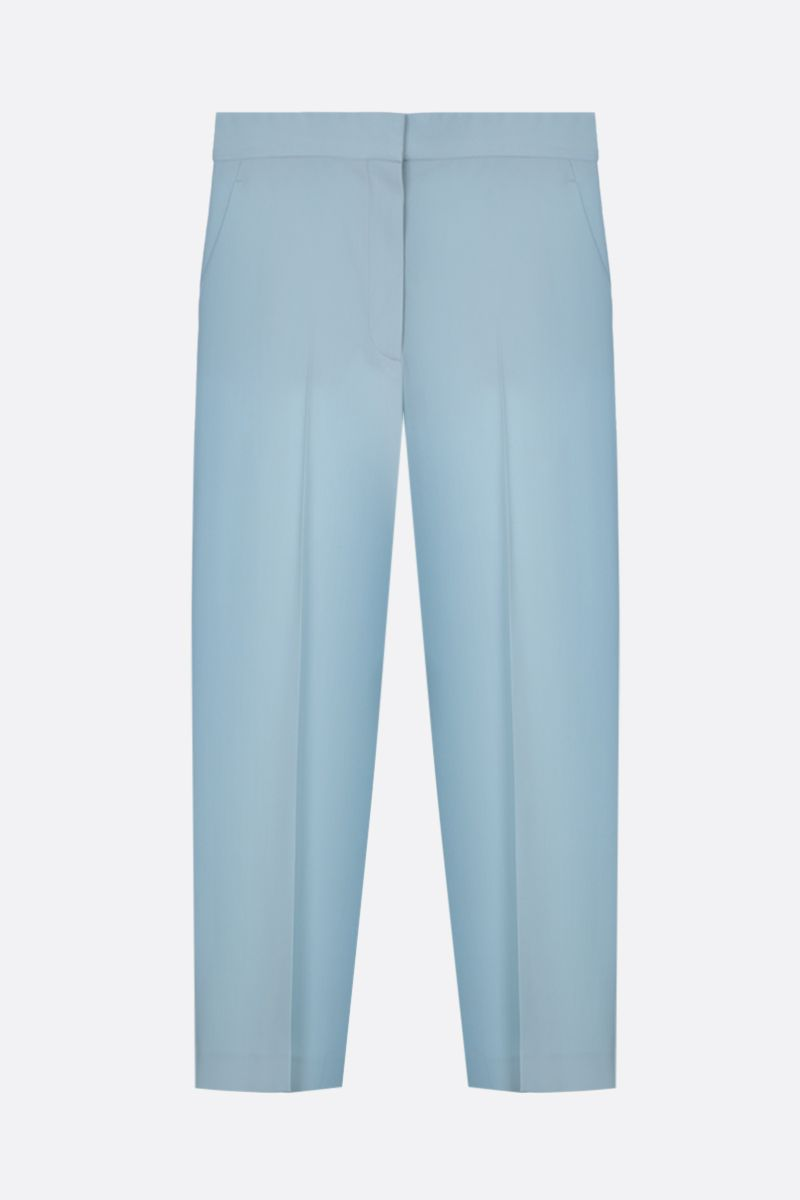 STELLA McCARTNEY: stretch wool cropped pants Color Blue_1