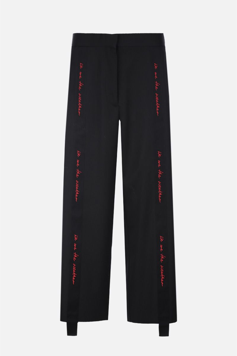 STELLA McCARTNEY: embroidered ribbon-detailed wool cropped pants Color Black_1