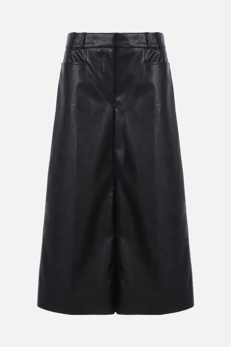 STELLA McCARTNEY: Charlotte faux leather culottes Color Black_1