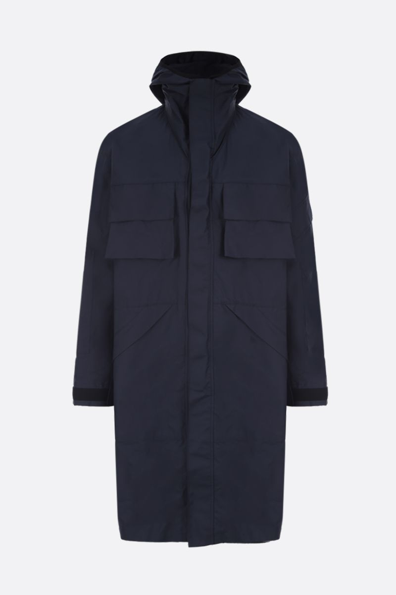 STELLA McCARTNEY: Murphy cotton blend parka Color Blue_1