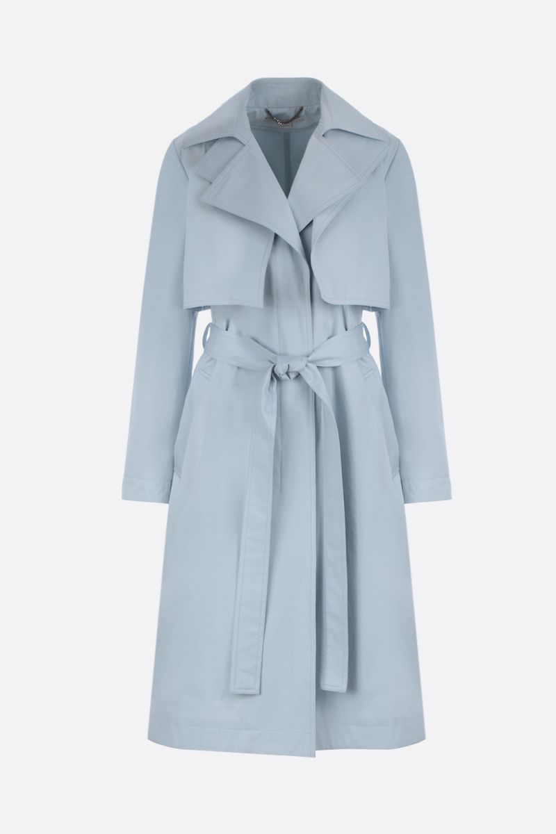 STELLA McCARTNEY: logo-detailed cotton single-breasted trench coat_1
