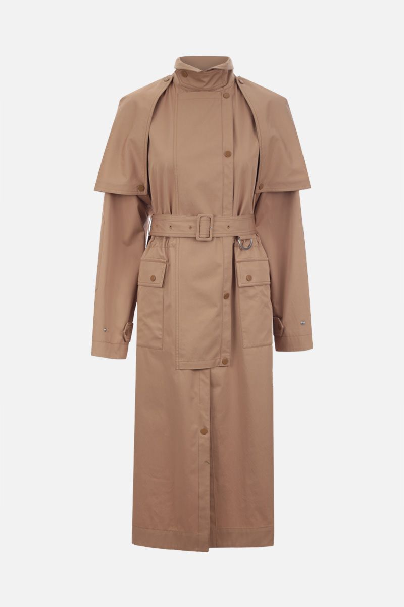 STELLA McCARTNEY: Stacey stretch cotton trench coat Color Neutral_1