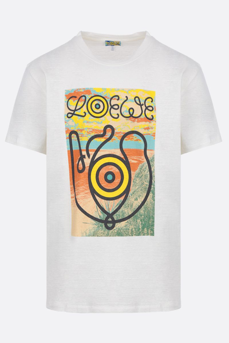Eye/LOEWE/Nature: Eye/Loewe/Nature print cotton t-shirt Color White_1