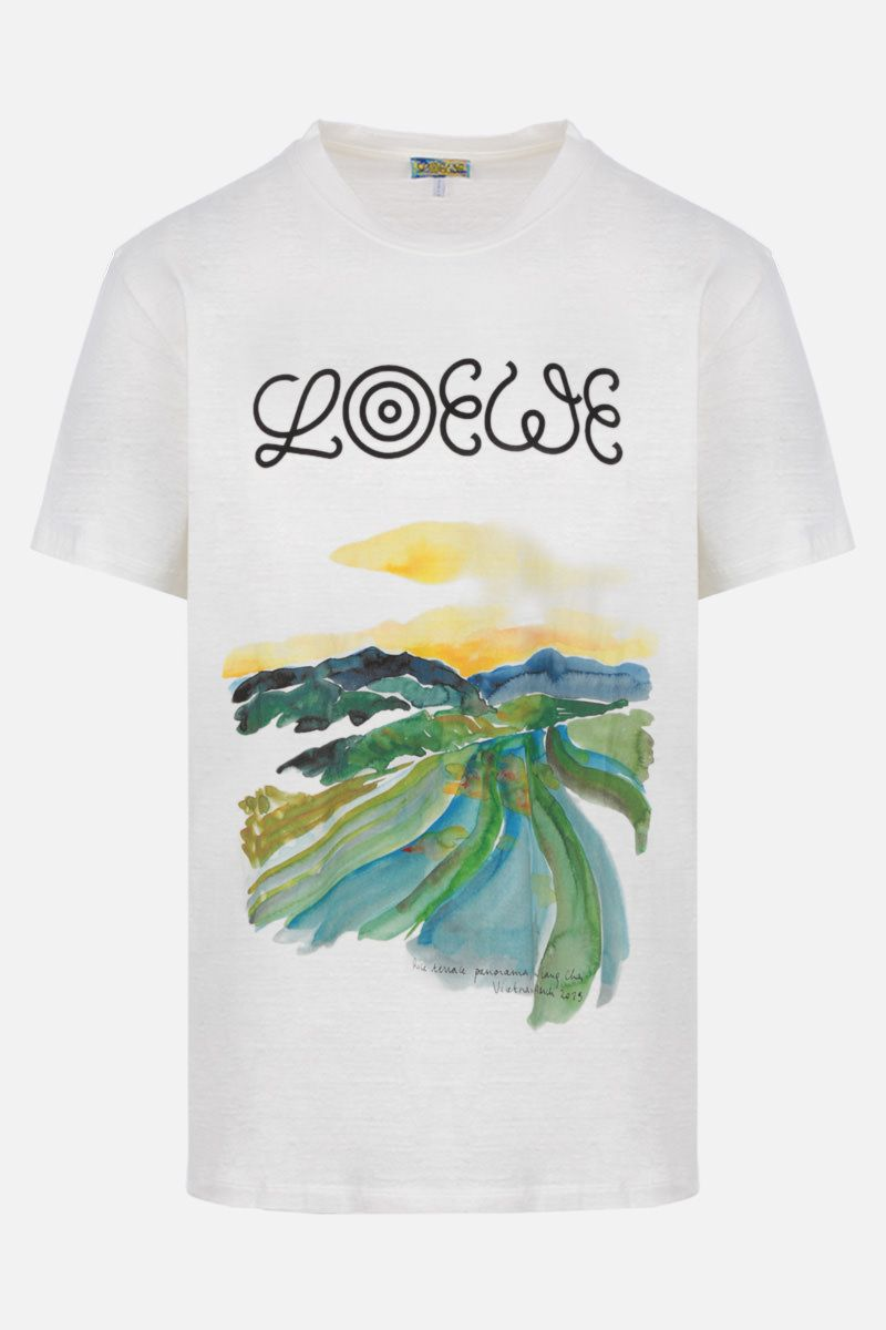 Eye/LOEWE/Nature: Eye/Loewe/Nature cotton t-shirt Color White_1