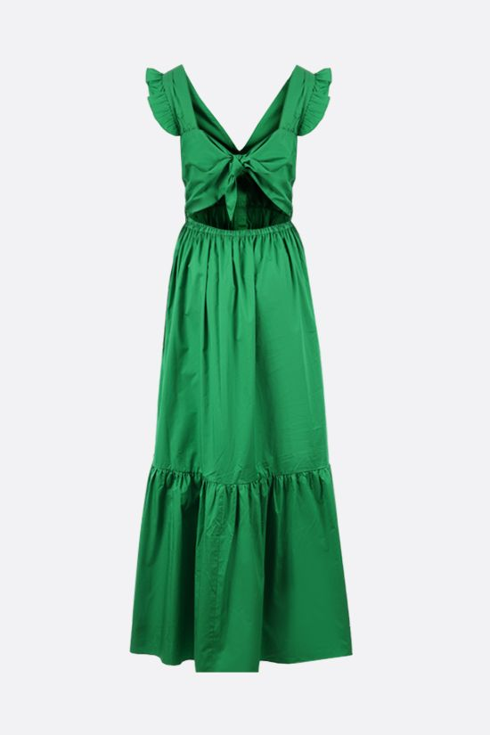 SELF PORTRAIT: long cotton dress Color Green_2