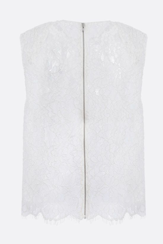 SELF PORTRAIT: cord lace sleeveless top Color White_2