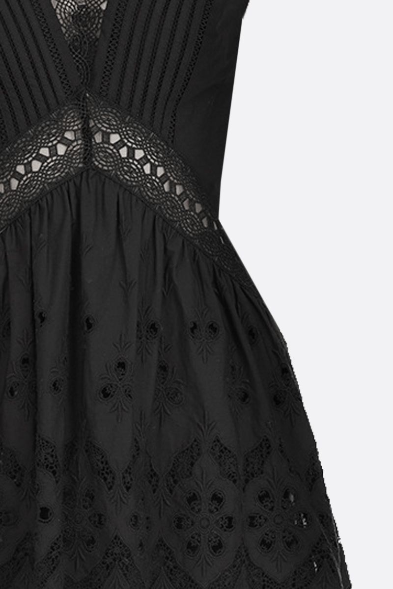 SELF PORTRAIT: broderie anglaise sleeveless top Color Black_3