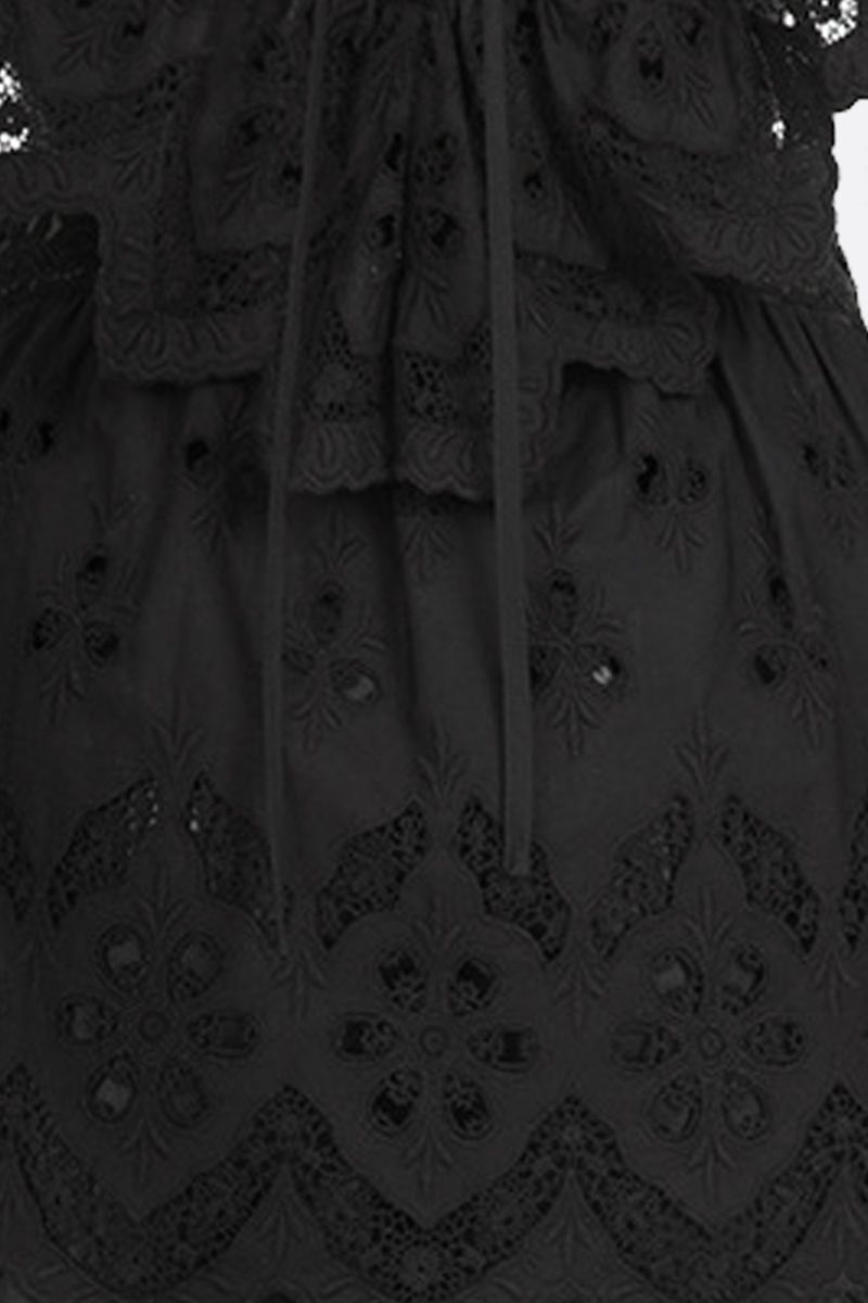 SELF PORTRAIT: broderie anglaise sleeveless top Color Black_4