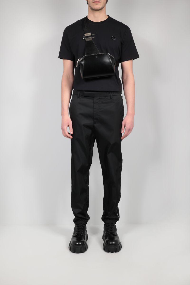FRED PERRY X RAF SIMONS: logo-detailed cotton t-shirt Color Black_2