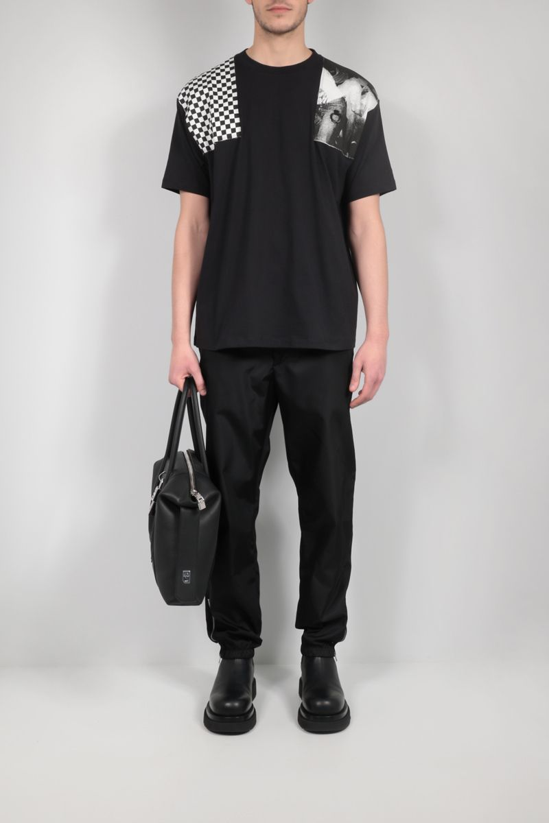 FRED PERRY X RAF SIMONS: patch-detailed oversize cotton t-shirt Color Black_2