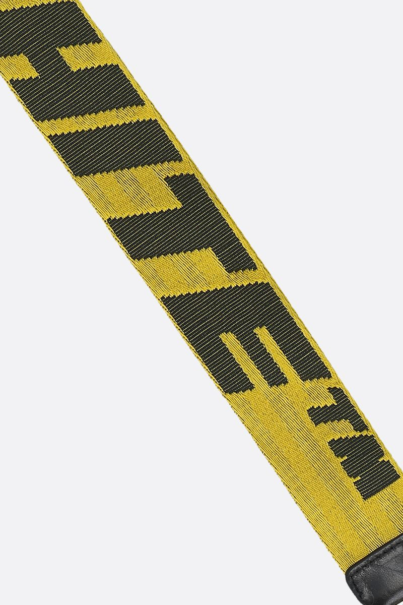 OFF WHITE: Industrial logoed fabric key holder Color Yellow_2