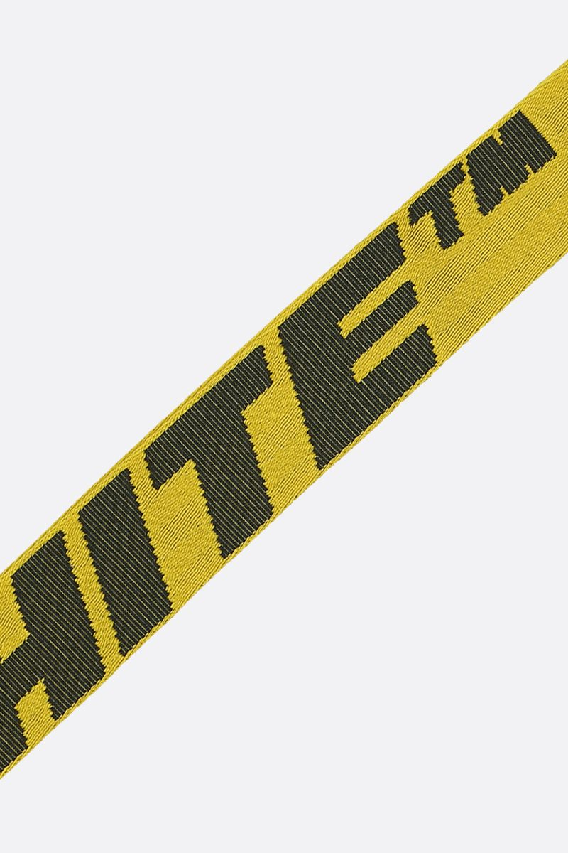 OFF WHITE: Industrial 2.0 logoed fabric key holder Color Yellow_2