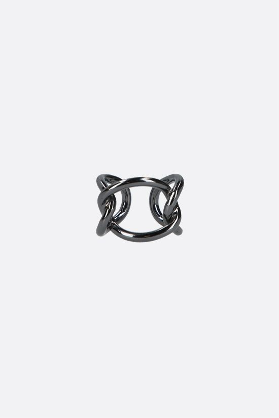 FEDERICA TOSI: Bolt brass ring Color Black_1