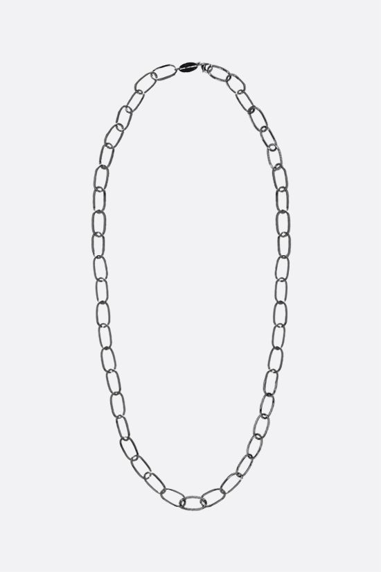 FEDERICA TOSI: Long Bolt brass necklace Color Black_1