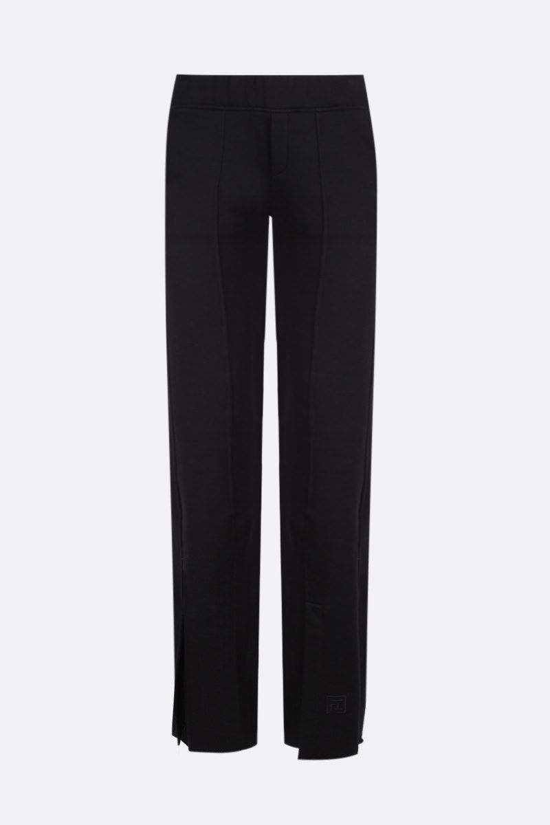 FEDERICA TOSI: jersey flared joggers Color Black_1
