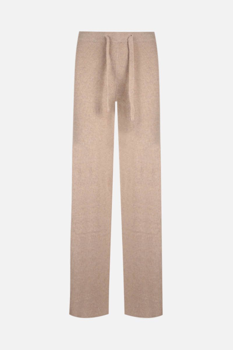 FEDERICA TOSI: wide-leg knit joggers Color Neutral_1