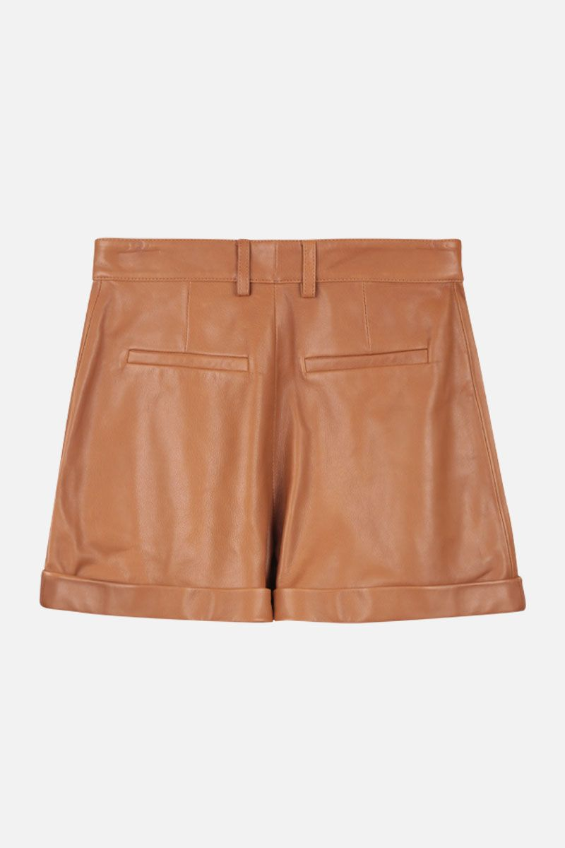 FEDERICA TOSI: leather shorts Color Neutral_2