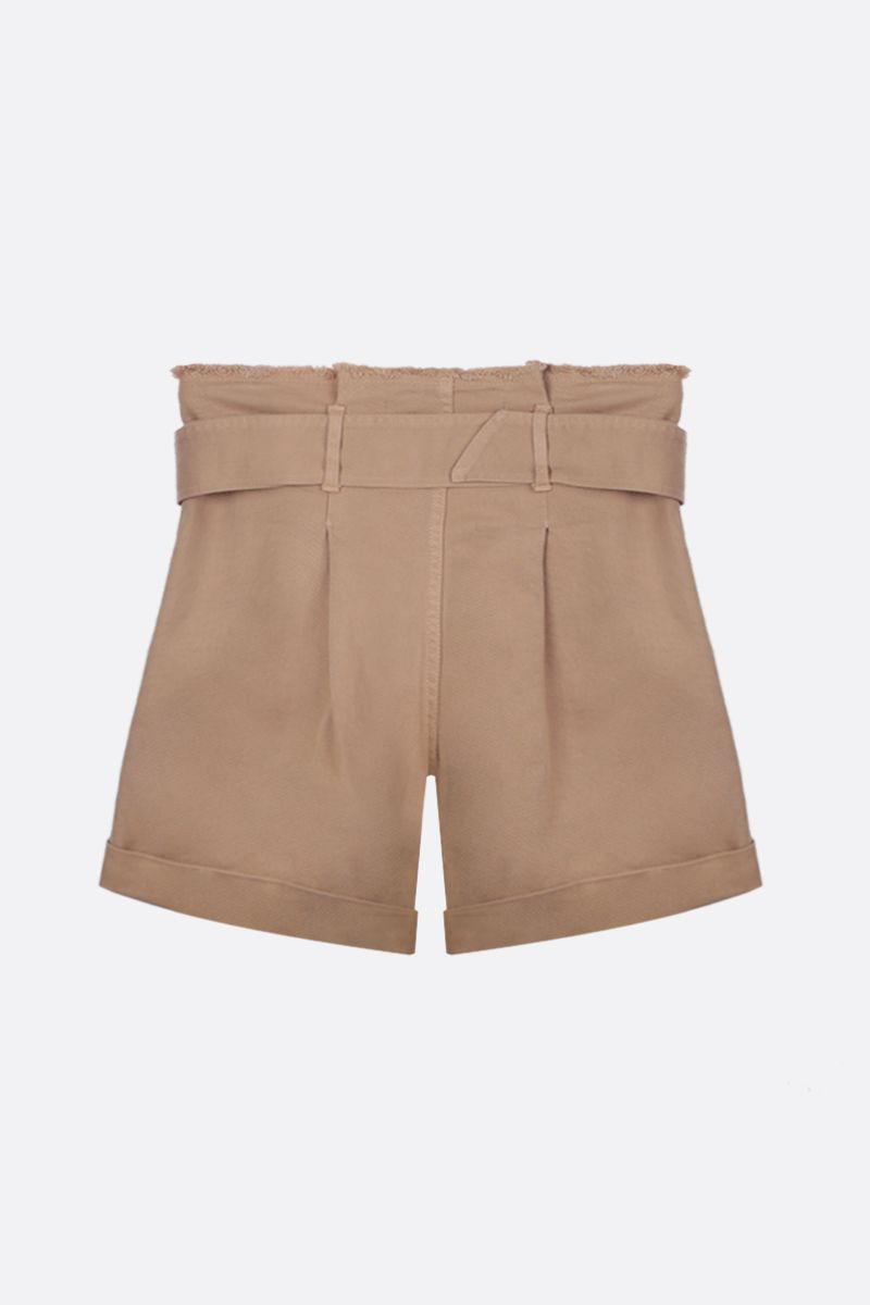 FEDERICA TOSI: denim darted shorts Color Neutral_2