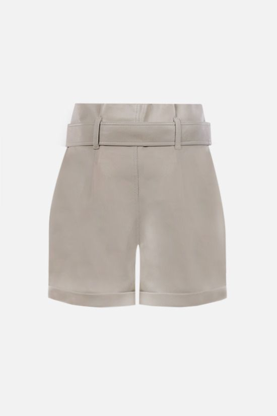 FEDERICA TOSI: soft nappa high-waist shorts Color Neutral_2