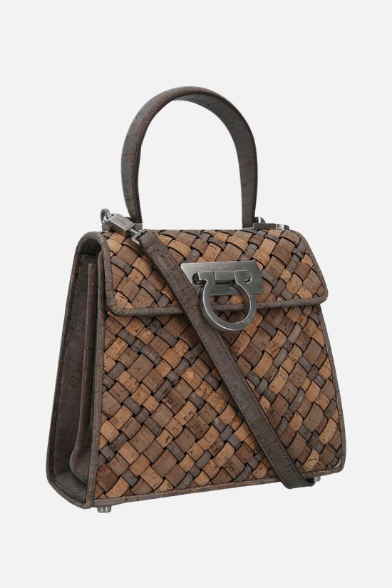 FERRAGAMO'S CREATIONS: Earth Top Handle cork top handle bag Color Neutral_2