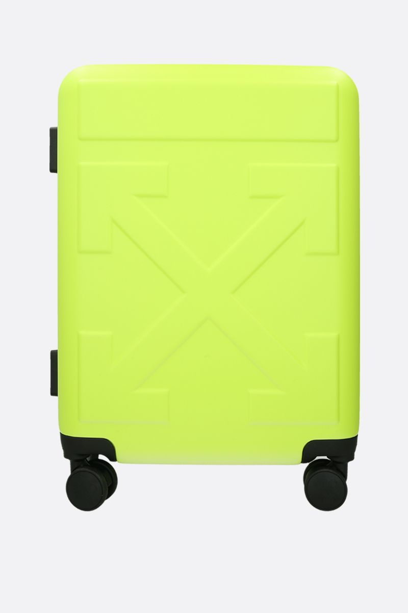 OFF WHITE: trolley Quote in policarbonato Colore Giallo_2