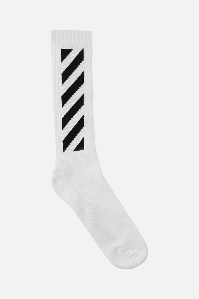 OFF WHITE: Diagonals terry socks Color Black_1