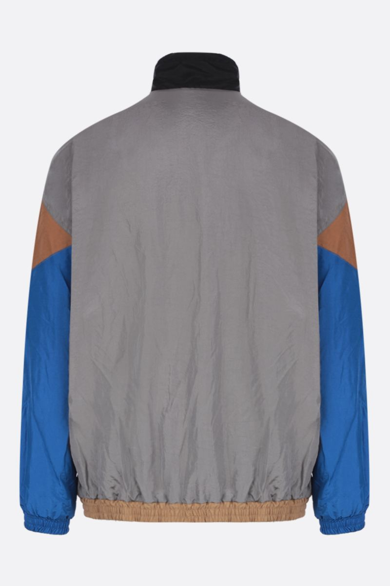 MAISON FLANEUR: nylon full-zip jacket with cotton inserts Color Neutral_3