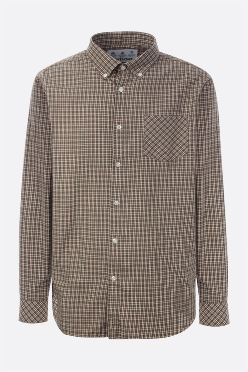 BARBOUR MADE FOR JAPAN: Lanewell check cotton shirt Color Green_1