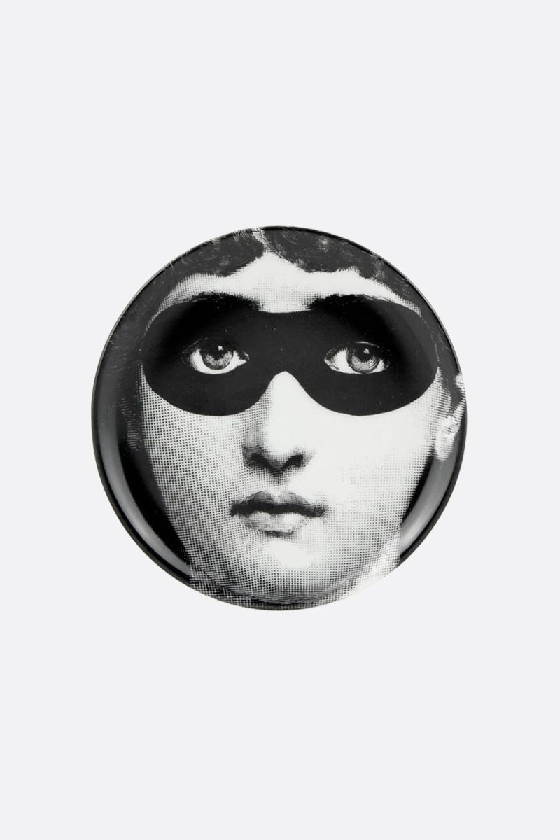 FORNASETTI: Tema e Variazione n.22 ceramic coaster Color Grey