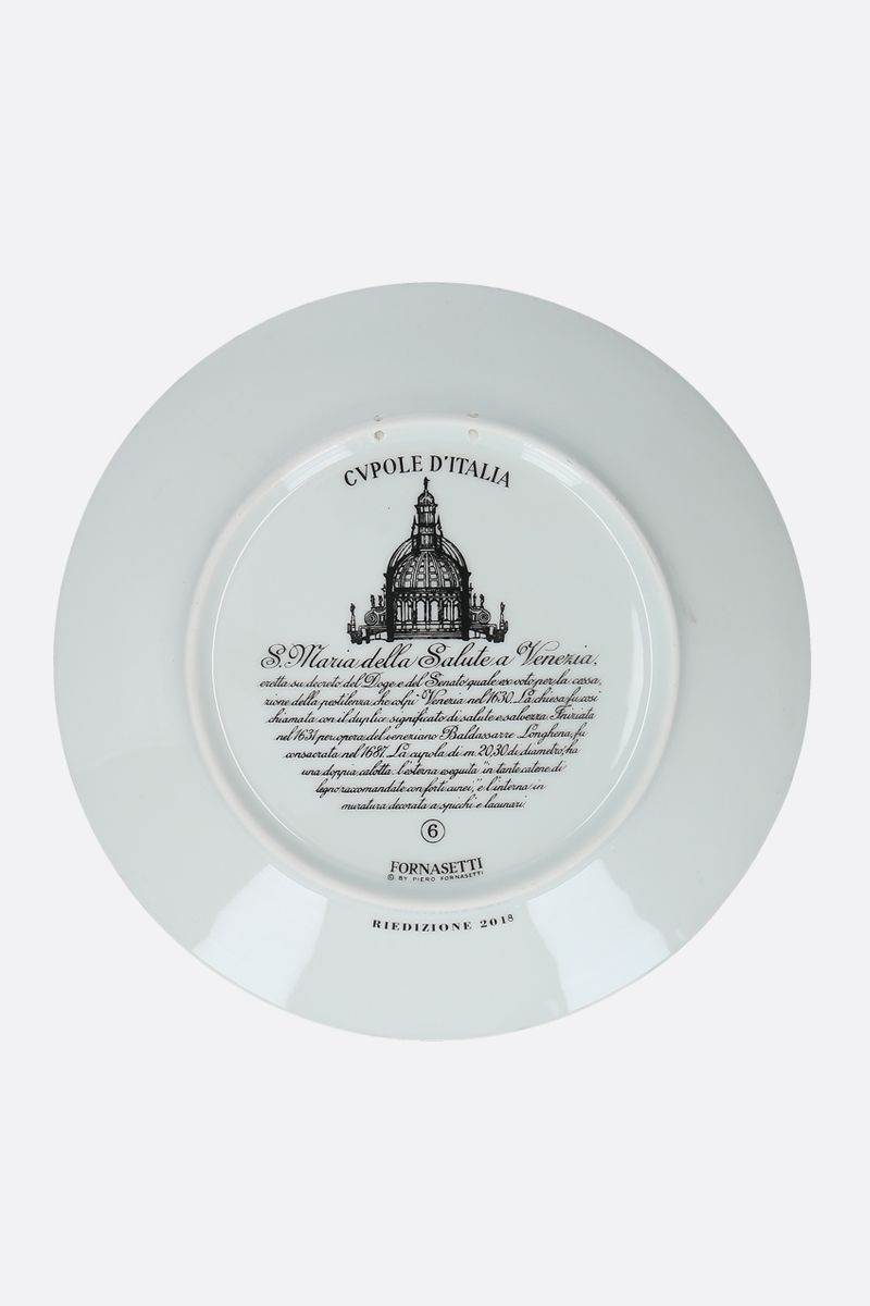 FORNASETTI: Cupola S.M. Salute ceramic wall plate Color White_2