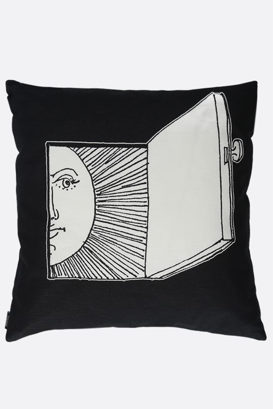 FORNASETTI: Solingo canvas cushion Color Grey_2