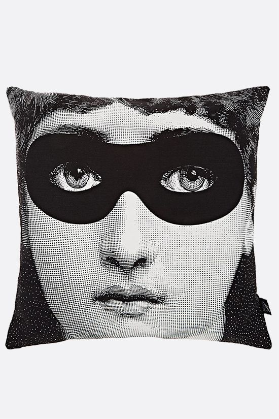 FORNASETTI: Burlesque canvas cushion Color Grey_2