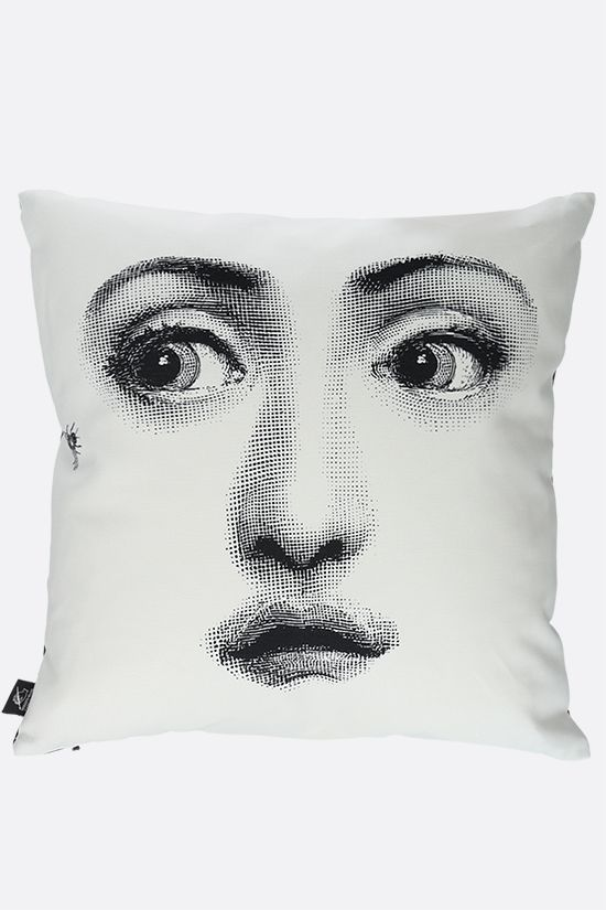 FORNASETTI: Ape linen cotton blend cushion Color Grey_2