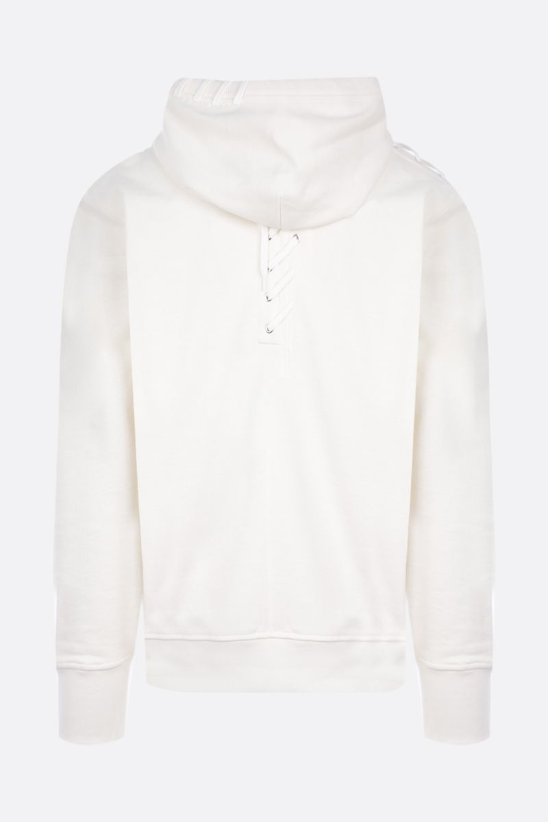 CRAIG GREEN: lace-detailed cotton hoodie_2